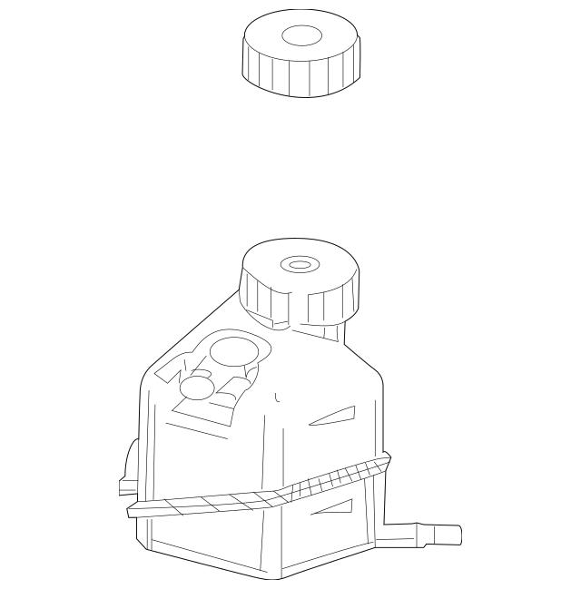 Genuine Mercedes-Benz Master Cylinder Reservoir 204-430-00