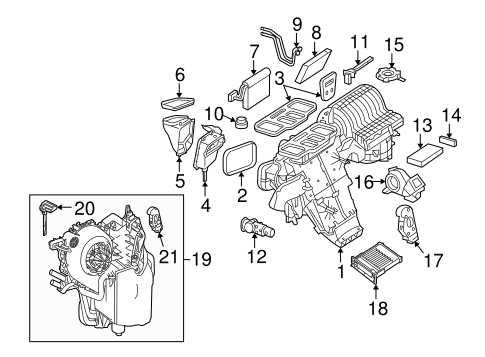 Evaporator & Heater Components for 2006 Mercedes-Benz R