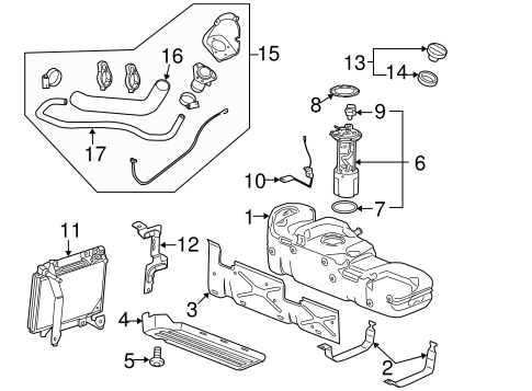 OEM FUEL SYSTEM COMPONENTS for 2007 GMC Sierra 3500 HD