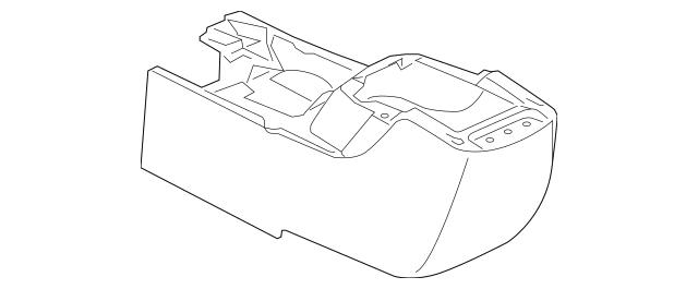 2005-2006 Mitsubishi Outlander Rear Console MN151553HA