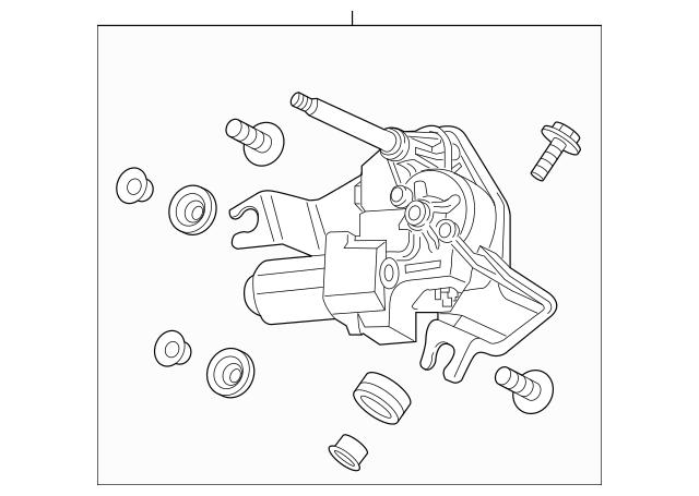 Honda Motor Assembly, Rear Windshield Wiper 76700-TG7-A01