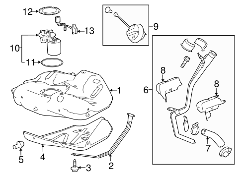 Fuel System Components for 2013 Chevrolet Malibu