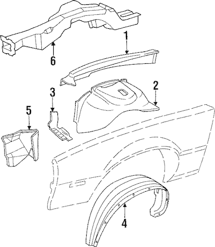 OEM INNER COMPONENTS for 1991 Chevrolet Camaro