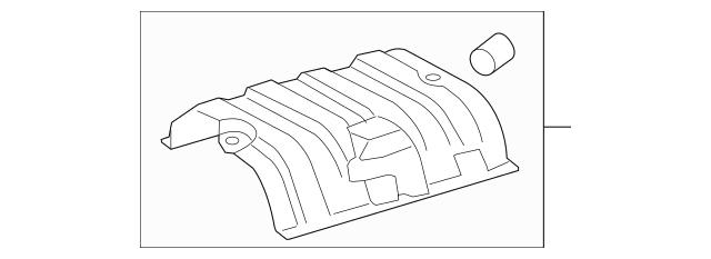 Genuine Heat Shield for 2013-2018 Lexus Part# 58327-33070