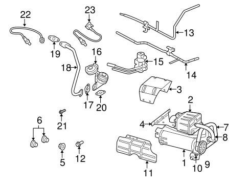 Emission Components for 2005 Dodge Ram 1500