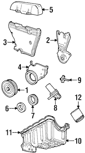 ENGINE PARTS for 1999 Ford Contour