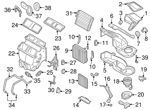 Evaporator & Heater Components for 2005 Volvo XC70