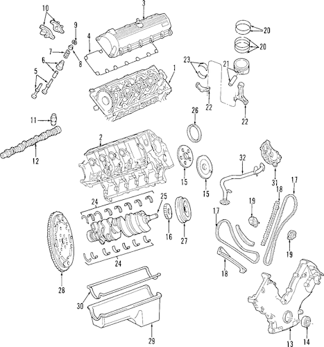 ENGINE PARTS for 1997 Ford E-350 Econoline