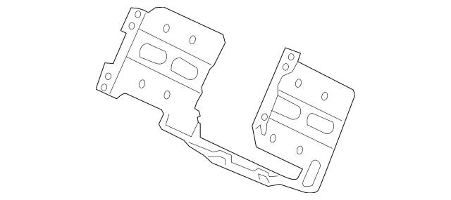 2010-2011 Honda INSIGHT Bracket, Audio 77255-TM8-A00