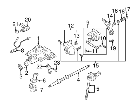 Genuine OEM Steering Column Assembly Parts for 2001 Toyota