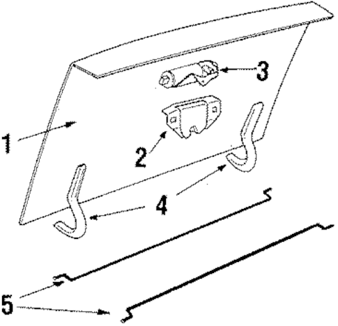 LID & COMPONENTS Parts for 1990 Cadillac DeVille