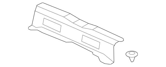 2009-2013 Honda FIT 5-DOOR Lining Assembly, Rear Panel