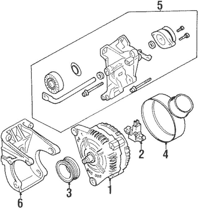 1993-1999 Volkswagen Alternator 028-903-025-PX