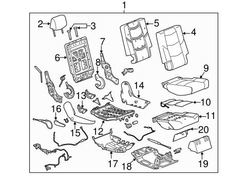 OEM 2015 GMC Yukon XL Rear Seat Components Parts