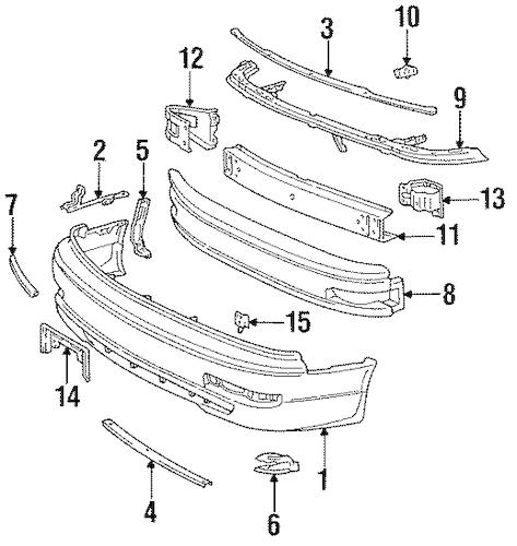 1992 Toyota Camry Fender Diagram, 1992, Free Engine Image