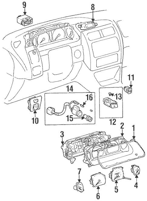 Genuine OEM Instruments & Gauges Parts for 1999 Toyota