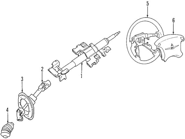 1995-1999 Mitsubishi Eclipse Steering Column MR197012