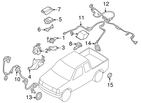 ANTI-LOCK BRAKES for 2004 Nissan Frontier