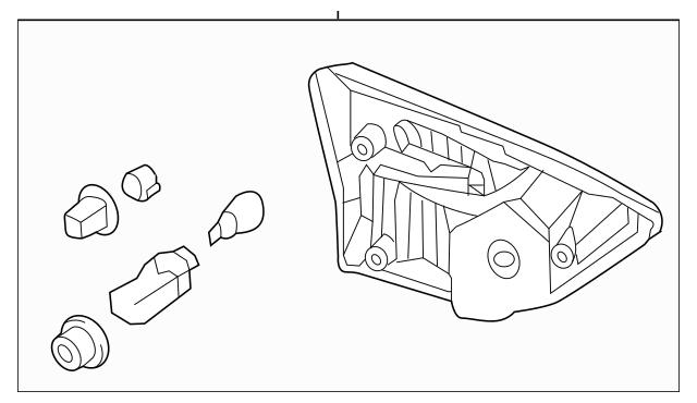 2013-2016 Nissan Pathfinder Backup Lamp Assembly 26550