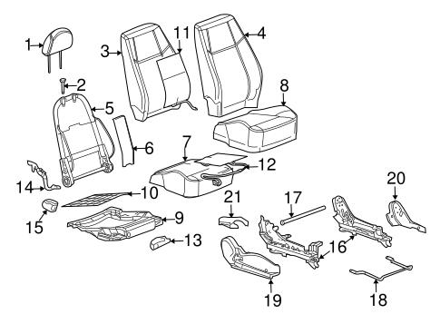 OEM 2009 Chevrolet Cobalt Front Seat Components Parts