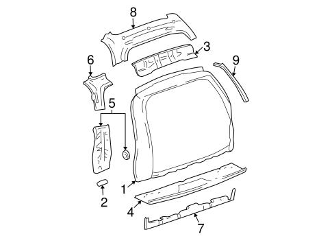 OEM 2003 Chevrolet Trailblazer EXT Rear Body Parts