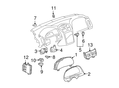 HEADLAMP COMPONENTS for 2005 Chevrolet Malibu