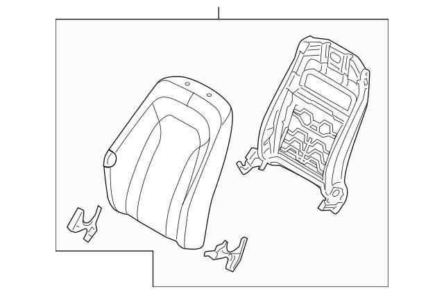 Buy this Genuine 2011-2012 Kia Optima Seat Back Assembly