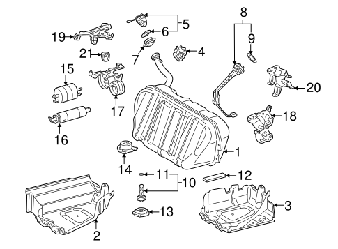 Fuel System Components for 2002 Mercedes-Benz S 55 AMG