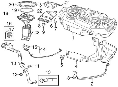 Fuel System Components for 2013 Dodge Dart Parts
