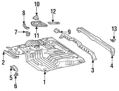 Genuine OEM FLOOR Parts for 1994 Toyota Land Cruiser Base