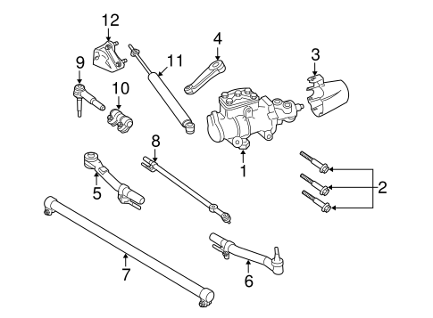 Steering Gear & Linkage for 2008 Ford F-350 Super Duty