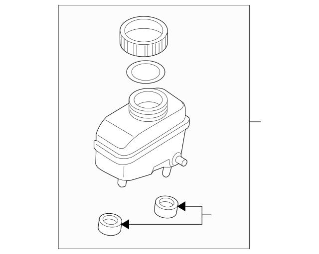 Mazda Master Cylinder Reservoir (FE05-43-55Z) For Sale