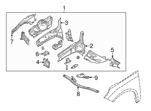 STRUCTURAL COMPONENTS & RAILS for 2014 Ford Focus