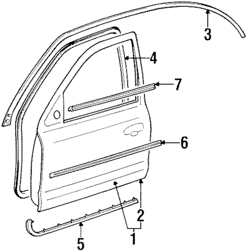 Door & Components for 1999 Ford Contour