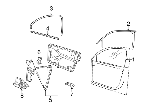 Glass, Windows & Related Components for 2007 Volkswagen