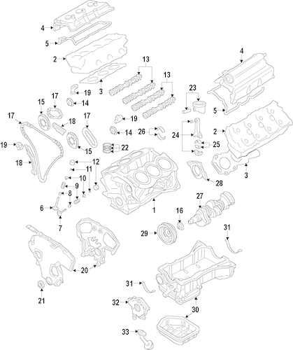 Engine for 2014 Nissan Maxima