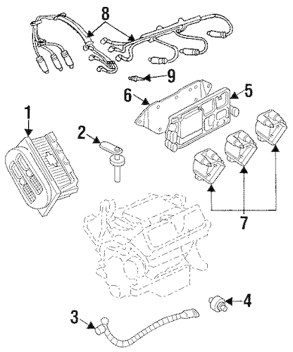 OEM IGNITION SYSTEM for 2002 Pontiac Grand Prix