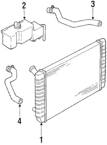 OEM RADIATOR & COMPONENTS for 1997 Oldsmobile Cutlass