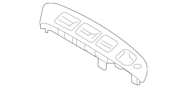 2014-2015 Hyundai Tucson Bezel 93572-2S310-9P