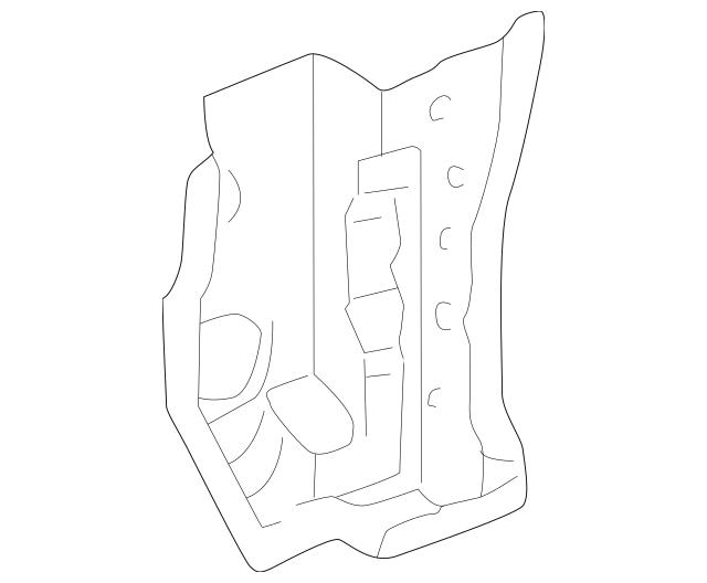 1998-1999 Acura RL SEDAN Pillar, R Front (Lower) (Inner