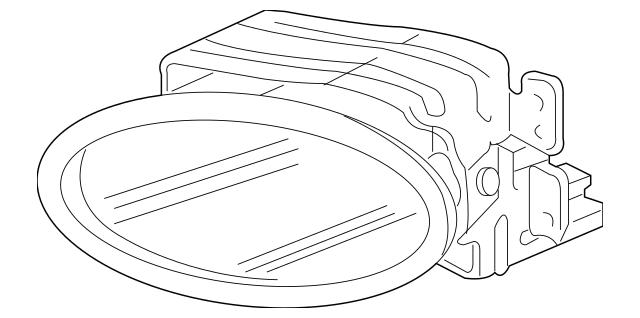 Genuine OEM Acura Fog Light Unit, R Part# 33901-SEC-A01