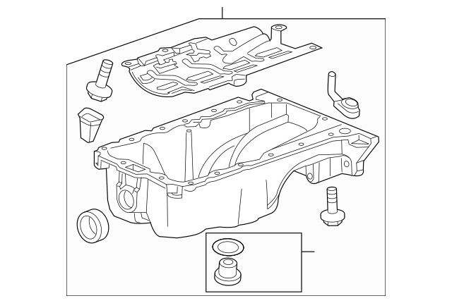 OEM Oil Pan (55573111) for your GM Vehicle : OEM GM Parts