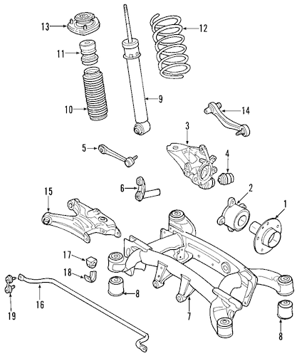 Rear Suspension for 2007 BMW X5