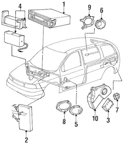 Sound System for 1996 Ford Windstar