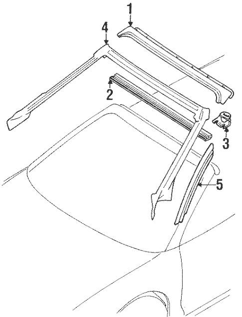 Windshield Header & Components for 1998 Mitsubishi Eclipse