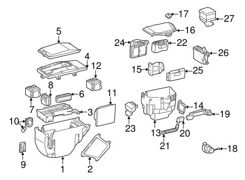 Electrical Components for 1999 Mercedes-Benz SLK 230