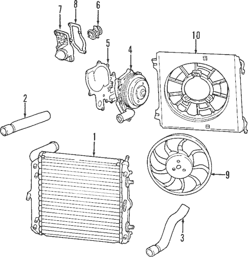 Cooling System for 1997 Porsche Boxster