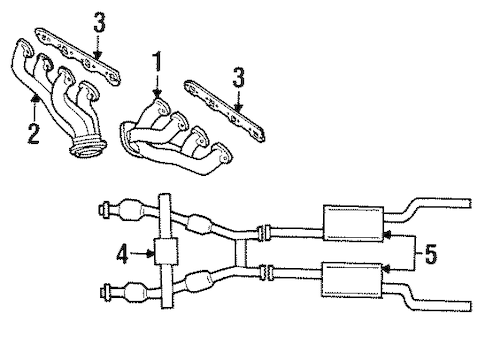 EXHAUST MANIFOLD for 1994 Ford Mustang