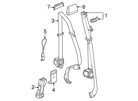 Rear Seat Belts for 2014 Chevrolet Silverado 1500