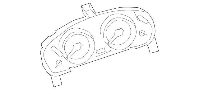 2010-2012 Mazda CX-9 Instrument Cluster TE72-55-471C